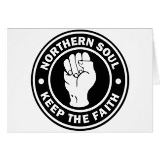 northern soul Logo  black Card