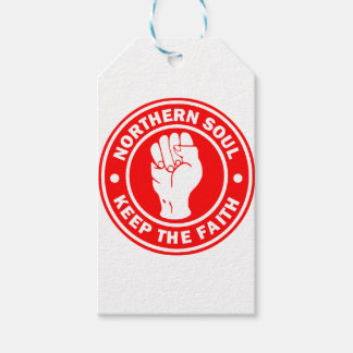northern soul Logo Red Gift Tags