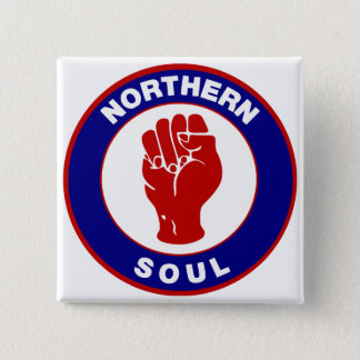 Northern Soul Mod target design 15 Cm Square Badge