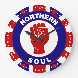 Northern Soul Mod target design on union Jack Large Clock