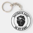 Northern Soul Patch Up All Night Keychain