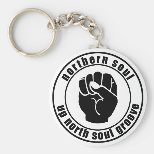 Northern Soul Patch Up North Soul Groove Keychain