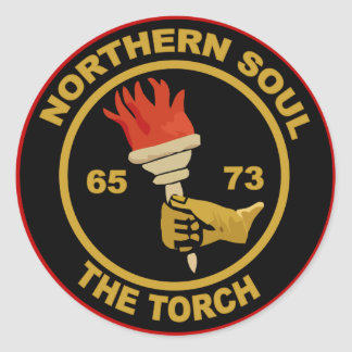 Northern Soul The Torch Classic Round Sticker