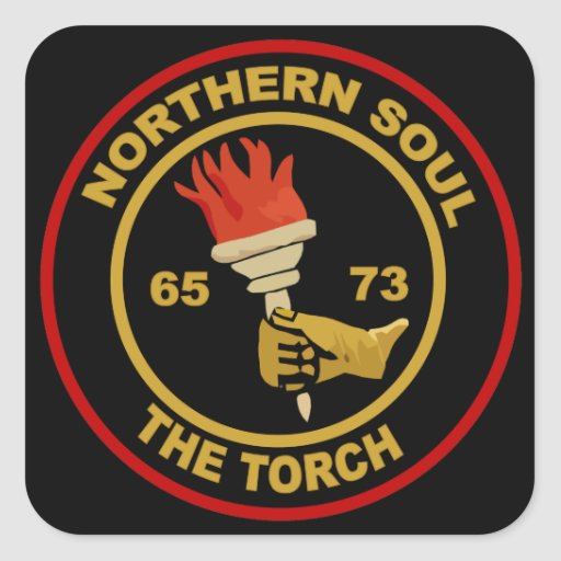 Northern Soul The Torch square stickers
