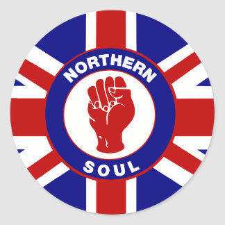 Northern Soul Union jack Classic Round Sticker