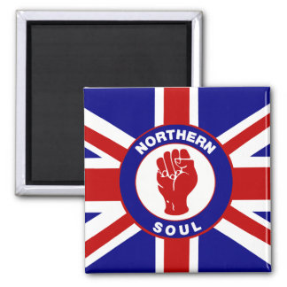 Northern Soul Union jack Square Magnet