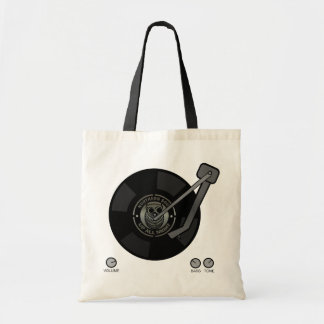Northern Soul vinyl on turntable Budget Tote Bag