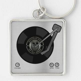 Northern Soul vinyl on turntable Keyring