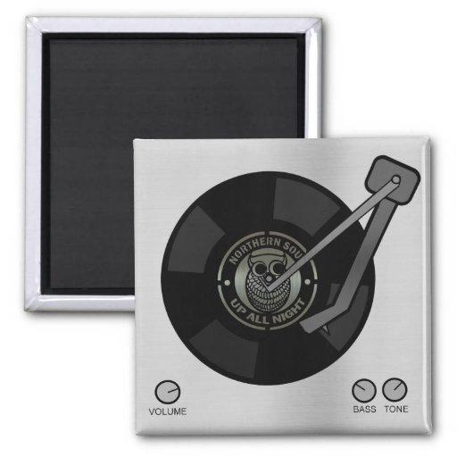 Northern Soul vinyl on turntable Fridge Magnet