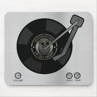 Northern Soul vinyl on turntable Mouse Mat