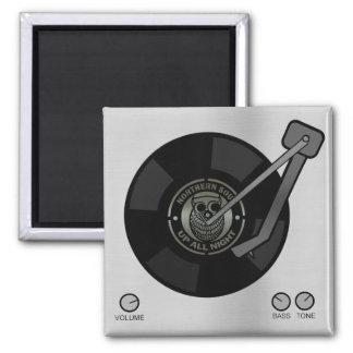 Northern Soul vinyl on turntable Square Magnet