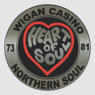 Northern soul Wigan Casino Metalic stickers