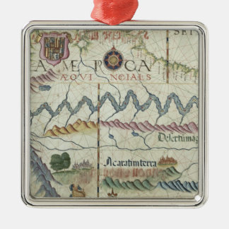 Northern South America, detail from world Christmas Ornament