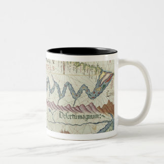 Northern South America, detail from world Two-Tone Coffee Mug