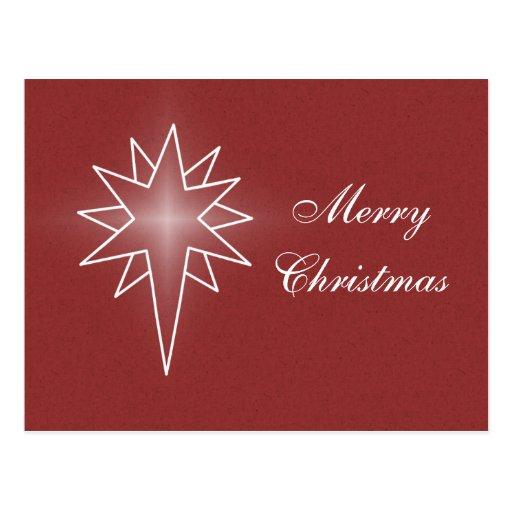 Northern Star Christmas Postcard, Red