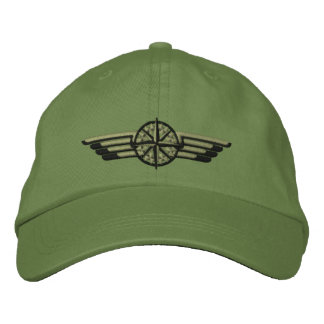 Northern Star Compass Pilot Wings Embroidered Baseball Caps