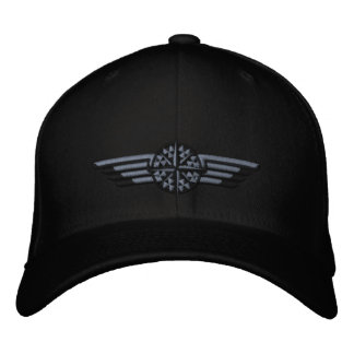 Northern Star Compass Pilot Wings Embroidered Hats