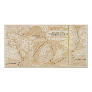 Northern Steamship Company map Poster