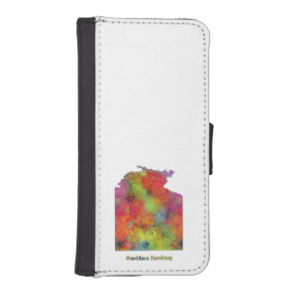 NORTHERN TERRITORY STATE MAP - Wallet Case