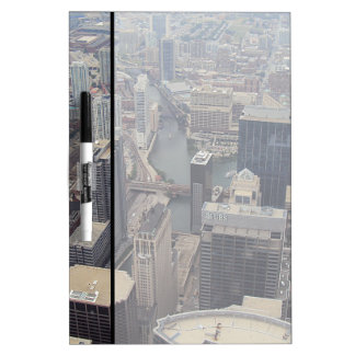 Northern View Of Chicago From Sears Tower Dry-Erase Whiteboards