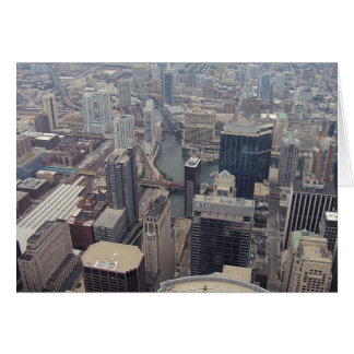 Northern View Of Chicago From Sears Tower Greeting Card