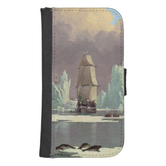 "Northern Whale Fishery: ""Swan"" & ""Isabella"" Samsung S4 Wallet Case"