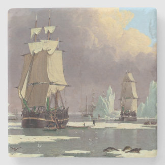"""Northern Whale Fishery: """"Swan"""" & """"Isabella"""" Stone Coaster"""