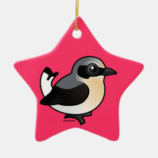 Northern Wheatear (adult) Christmas Ornament