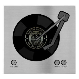 NorthernSoul vinyl on turntable Small print