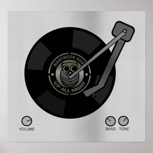 NorthernSoul vinyl on turntable Small print