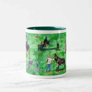 NorthPine Donkeys - Mammoths Two-Tone Coffee Mug