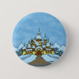 northpole holiday winter 6 cm round badge