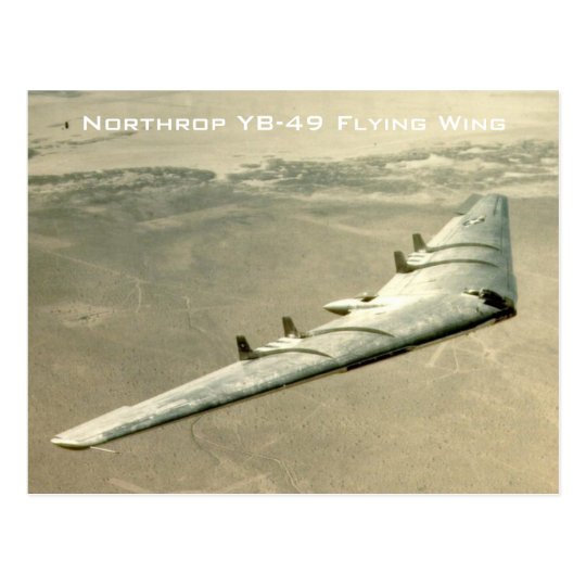 Northrop YB-49 Flying Wing Postcard