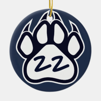 Northshore Panthers Paw Print Ornament