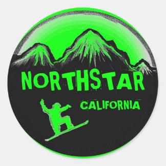 Northstar California green snowboard stickers
