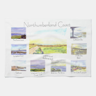 Northumberland Coast Tea Towel