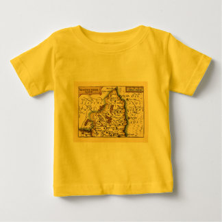 Northumberland County Map, England Baby T-Shirt