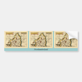 Northumberland County Map, England Bumper Stickers