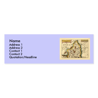 Northumberland County Map, England Pack Of Skinny Business Cards