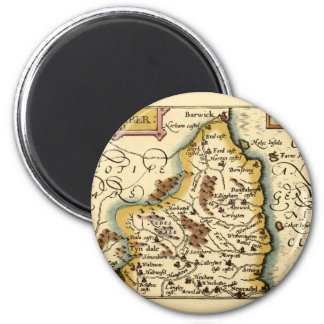 Northumberland County Map, England Magnet