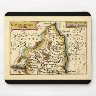 Northumberland County Map, England Mouse Mat