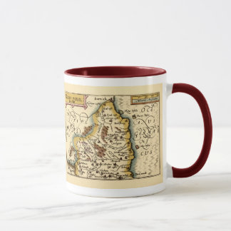 Northumberland County Map, England Mug