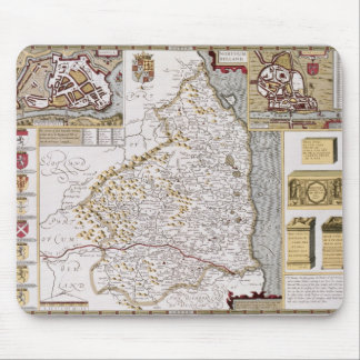 Northumberland, engraved by Jodocus Hondius Mouse Mat