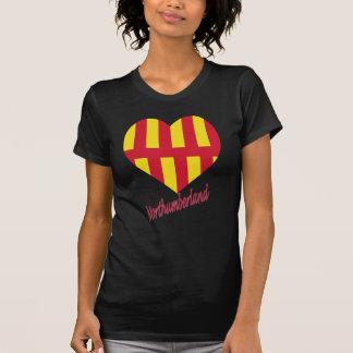 Northumberland Flag Heart with Name Tee Shirts