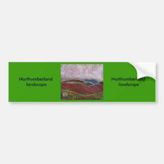 Northumberland landscape car bumper sticker