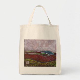 Northumberland landscape grocery tote bag
