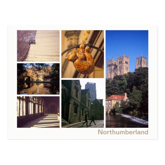 Northumberland multi-image postcard