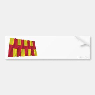 Northumberland Waving Flag Car Bumper Sticker