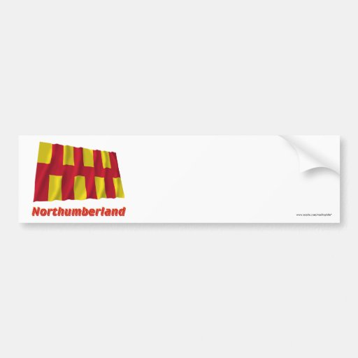 Northumberland Waving Flag with Name Bumper Stickers