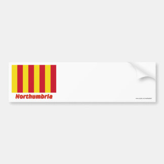 Northumbria Flag with Name Bumper Sticker